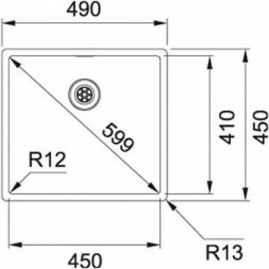 Plieninė plautuvė Franke BOX 210/110-45 3