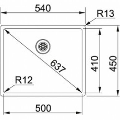 Plieninė plautuvė Franke BOX BXX210/110-50 4