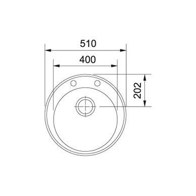 Akmens masės plautuvė Franke Ronda ROG 610-41, užk. v. 12