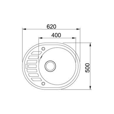Akmens masės plautuvė Franke Ronda ROG 611-62, užk. v. 8