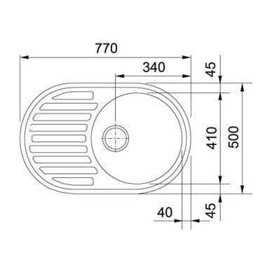 Akmens masės plautuvė Franke Ronda ROG 611, eks. v. 6