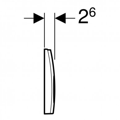 Vandens nuleidimo mygtukas Geberit Delta 21 4