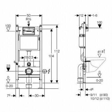 Geberit DuoFix Basic potinkinis WC rėmas 3in1 2