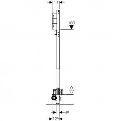 Dušo latako elementas Geberit Duofix ShowerDrain 5