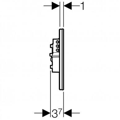 Elektroninis vandens nuleidimo mygtukas Geberit Sigma 80 6