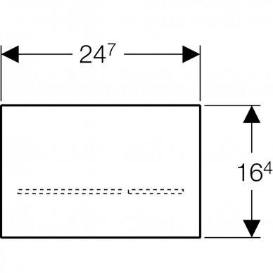 Elektroninis vandens nuleidimo mygtukas Geberit Sigma 80 3