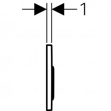 Vandens nuleidimo mygtukas Geberit Omega 20 5