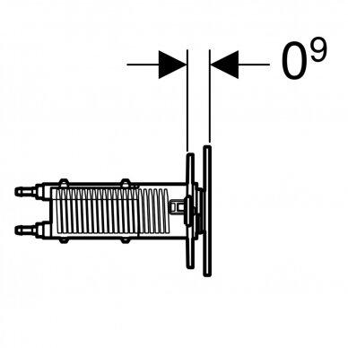 Vandens nuleidimo mygtukas Geberit Omega 70 8