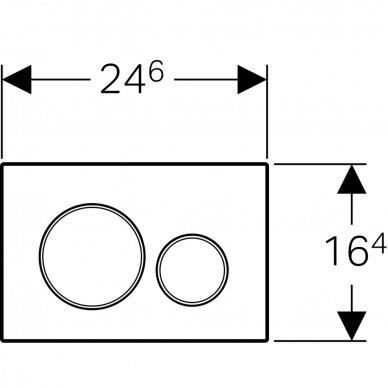Vandens nuleidimo mygtukas Geberit Sigma 20 2
