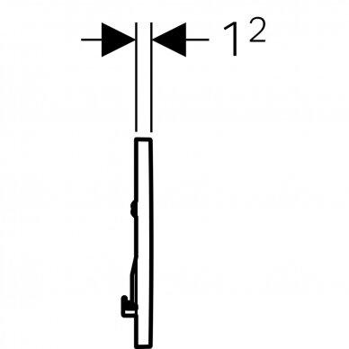Vandens nuleidimo mygtukas Geberit Sigma 30 4
