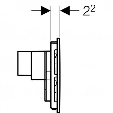 Vandens nuleidimo mygtukas Geberit Sigma 40 6