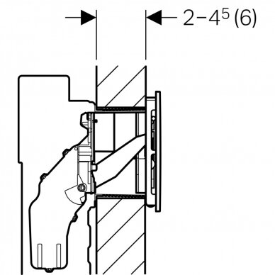 Vandens nuleidimo mygtukas Geberit Sigma 40 4