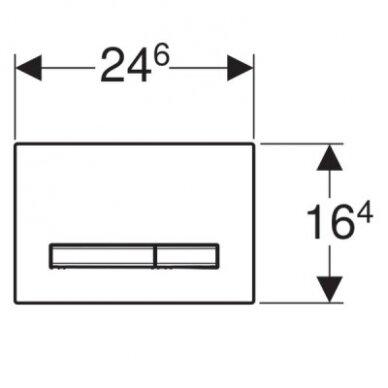 Dvigubas nuleidimo mygtukas Geberit Sigma 50 2