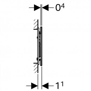 Vandens nuleidimo mygtukas Geberit Sigma 70 4