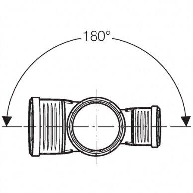 Geberit Silent-PP dvigubas trišakis 87.5G D90/90/90 3