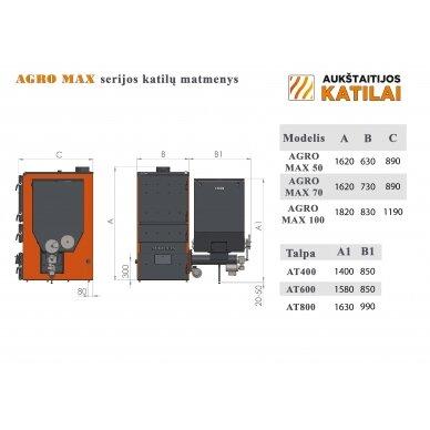 "Granulinis katilas 100 kW, komplekte su 100 kW ""Zenono"" degikliu, 400 l bunkeriu 2"