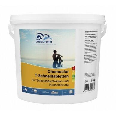 Greitai tirpstančios chloro tabletės Chemoform AG po 20 g, 5 kg