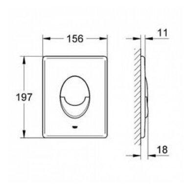 Grohe potinkinis WC rėmas Rapid SL 3in1 2