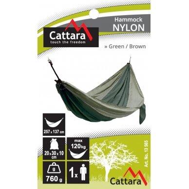 Hamakas Cattara Nylon – žalias-rudas 275 x 137 cm 4