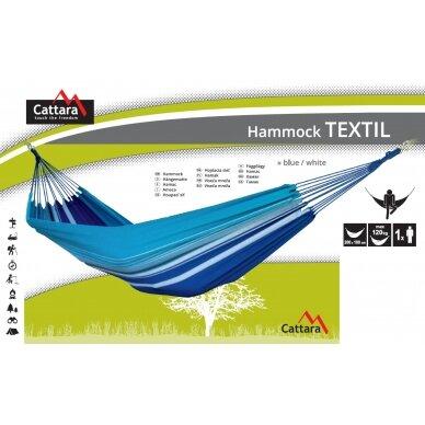 Hamakas Cattara Textil – mėlynas-baltas 200 x 100 cm 4
