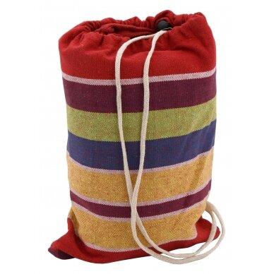 Hamakas Cattara Textil – raudonas-geltonas 200 x 100 cm 5