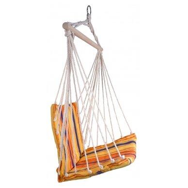 Hamakas-kėdė Cattara – raudona-oranžinė  95 x 50 cm 2