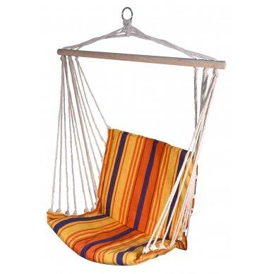 Hamakas-kėdė Cattara – raudona-oranžinė  95 x 50 cm
