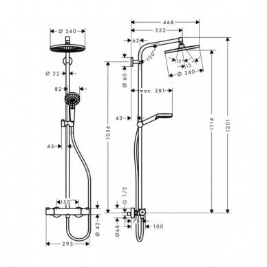 Dušo sistema Hansgrohe Crometta S 240 2