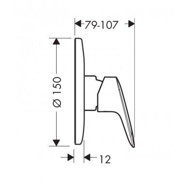 Maišytuvas dušui Hansgrohe Logis su potinkine dalimi 2