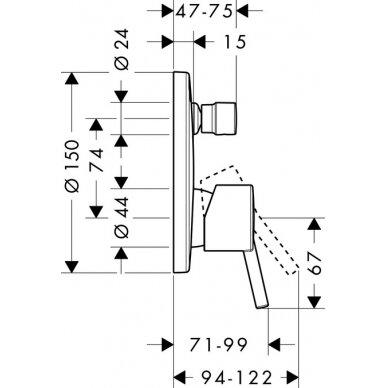 Vonios maišytuvas potinkinis Hansgrohe TALIS S 2