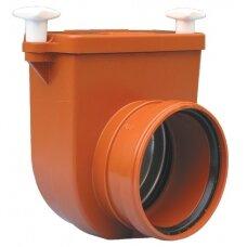 Kanalizacijos atbulinis vožtuvas HL710.0 su profiliuoto nerūdijančio plieno užsklanda