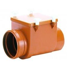 HL715 Kanalizacijos atbulinis vožtuvas su nerūd. plieno užskland