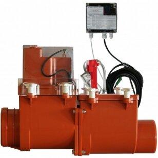 Magistralinis dviejų užsklandų atbulinis vožtuvas HL715.2EPC su elektrine pavara