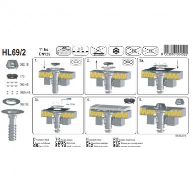 Nuotekų sistema HL 69/2 DN 125 3