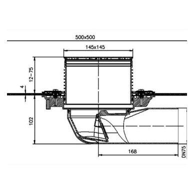 Trapas balkonams ir terasoms HL5100TH kaip ir HL5100T, tik su bituminiu lakštu 2