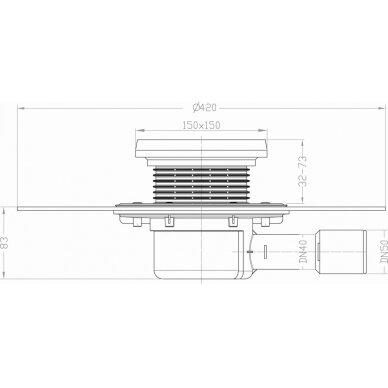 Trapo korpusas HL510NKH balkonams ir terasoms kaip ir HL510 2