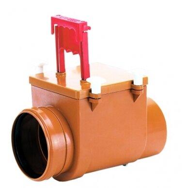 Kanalizacijos atbulinis vožtuvas HL712.1 su rankinio uždarymo galimybe