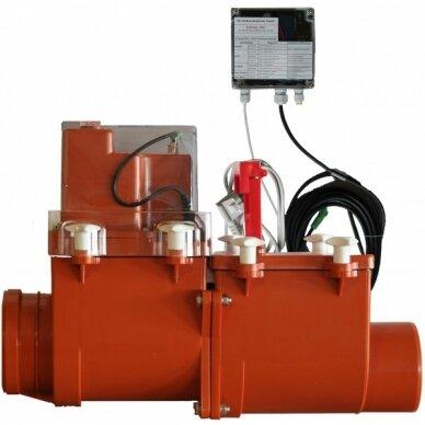 Magistralinis dviejų užsklandų atbulinis vožtuvas HL712.2EPC su elektrine pavara