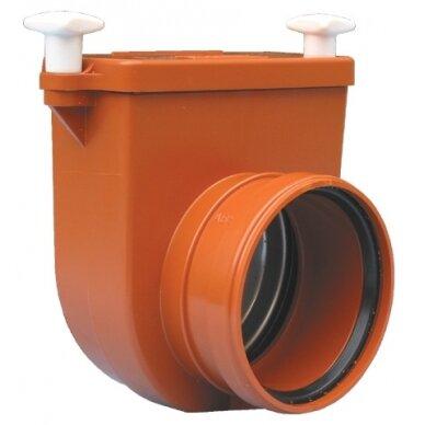 Kanalizacijos atbulinis vožtuvas HL715.0 su profiliuoto nerūdijančio plieno užsklanda