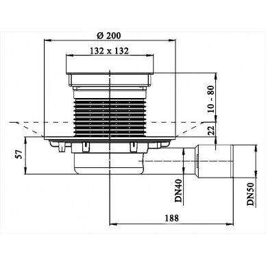 Trapas balkonams ir terasoms HL90.2 2