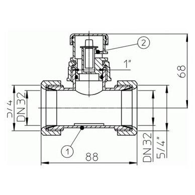 Alsuoklis su trišakiu HL902T (2 kūginės veržlės) 2