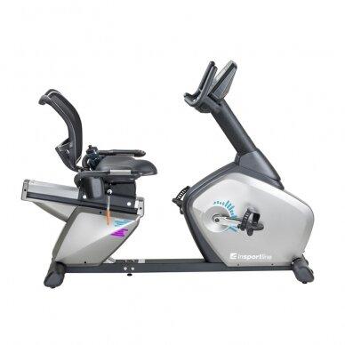 Horizontalus dviratis treniruoklis inSPORTline Halimed PRO (iki 130kg, smagr. 9kg) 2