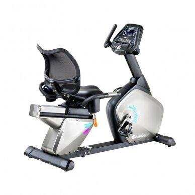 Horizontalus dviratis treniruoklis inSPORTline Halimed PRO (iki 130kg, smagr. 9kg)