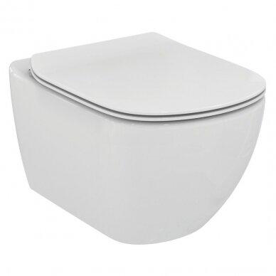 Ideal Standard komplektas: WC rėmas ir klavišas, klozetas ir dangtis 2