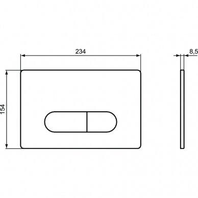 Ideal Standard komplektas: WC rėmas ir klavišas, klozetas ir dangtis 7