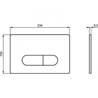 Ideal Standard komplektas: WC rėmas su klavišu, klozetas su dangčiu 7
