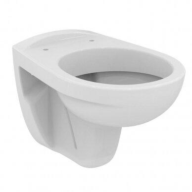 Ideal Standard komplektas: WC rėmas su klavišu, klozetas su dangčiu 4