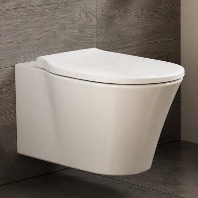 Ideal Standard komplektas: WC rėmas su klavišu, klozetas su dangčiu 3