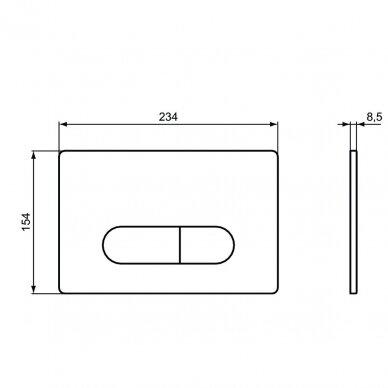 Ideal Standard komplektas: WC rėmas su klavišu, unitazas su dangčiu 9
