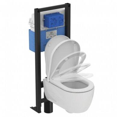 Ideal Standard komplektas: WC rėmas su klavišu, unitazas su dangčiu 5